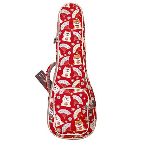 "MUSIC FIRST Cute Cartoon""Shiba Inu and Sakura"" Dog ukulele case ukulele bag ukulele cover, New Arrial, Original Design, Best Christmas Gift! (Fit for 23~24 inch Concert Ukulele, Red)"