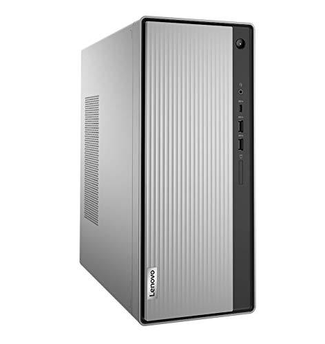 Lenovo IdeaCentre 5 - Ordenador de sobremesa (Procesador Intel Core i5-10400, 256GB SSD, RAM 8GB, Intel UHD Graphics 630, Sin Sistema Operativo) Ratón+Teclado USB QWERTY Español, Gris