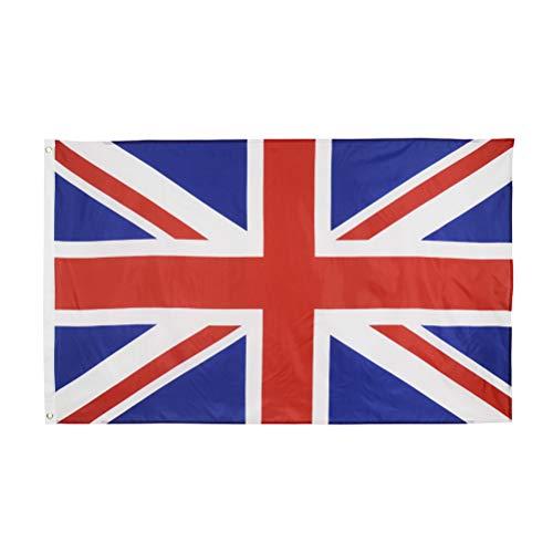 FairySu Woqook 90x150cm Poliéster Reino Unido Bandera Nacional Interior Exterior Bandera Gran Bretaña Bandera Reino Unido Bandera