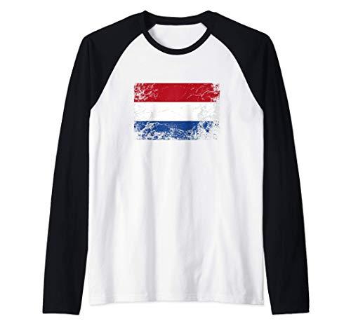 Bandera holandesa - Netherlands Flag Camiseta Manga Raglan