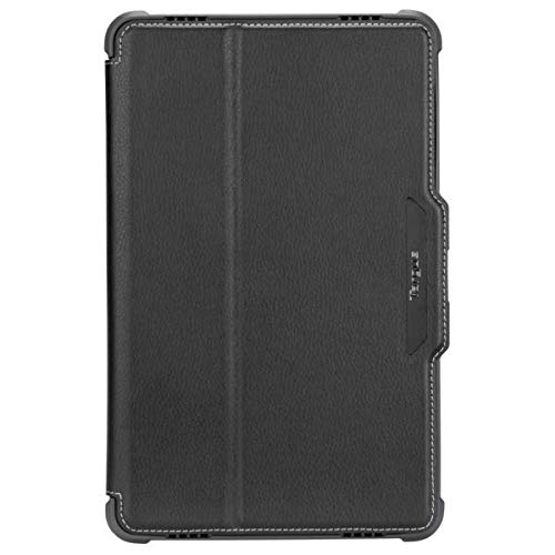 Targus VersaVu Samsung Galaxy Tab A 10.5-Inch (2018) Protective Case Drop Tested and Stand Folio Secure Closure, TriFold Stand Cover, Enhanced Audio, Stylus Holder, Black (THZ756GL)