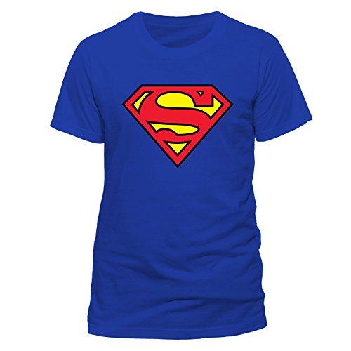 Superman Logo Unisex T-Shirt Offizielles Lizenzprodukt|blau-M