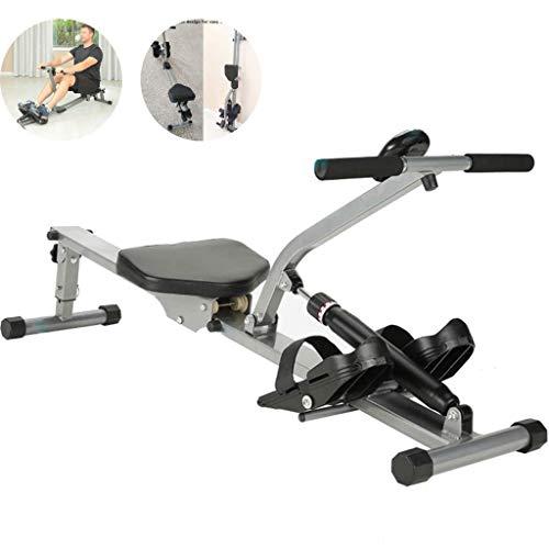XBSLJ Rudergeräte klappbar Rudergerät Haushaltsklapp-Rudergerät, Magnetwiderstand-Rudergerät, Gewichtsverlust-Trainingsgeräte für Männer und Frauen, Lager 120 kg
