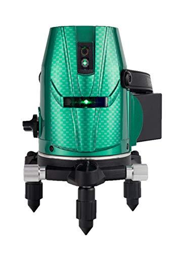 山真製鋸(YAMASHIN)スーパーナビグリーンレーザー墨出し器 GV-06(本体+受光器+三脚)フルセットモデル GV-06-W(4方向大矩・4垂直・1水平ライン照射タイプ)