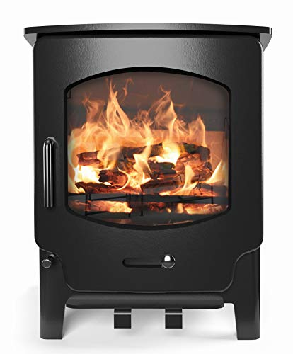 Saltfire ST-X4 Multifuel Woodburning Stove 5kW DEFRA Approved EcoDesign Clean Burn High Efficiency...