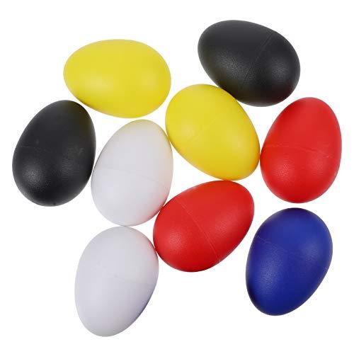 Toddmomy 10 Piezas de Plástico Agitadores de Huevo Percusión Musical Maracas Huevos de Pascua Instrumento de Aprendizaje de Música Juguete Educativo para Niños Pequeños Estilo 1