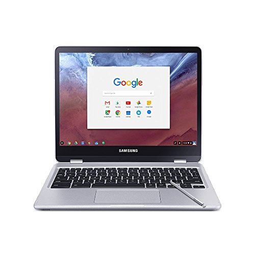 Samsung 2-in-1 Convertible Touchscreen 12.3 inch Chromebook Plus, 4GB RAM, 32GB eMMC, Webcam, Stereo Speakers, Chrome OS, Built-in Pen, Platinum Silver