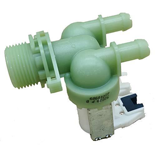 Marel Shop - Elettrovalvola due vie 180° per lavatrice compatibile con Candy Hoover Zerowatt per modelli: C150701S - C150801S - C210584 - C211547 - C212584