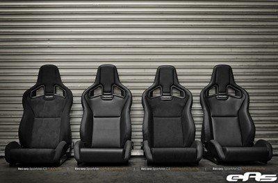 Recaro RC414101S08 Cross Sportster Cs Asiento Deportivo de Piel Artificial con Airbag para Piloto, Negro