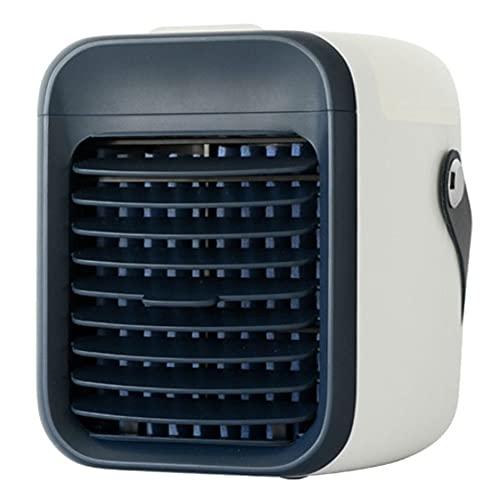 Condizionatore d'aria portatile 2000 mAh Mini Cordless Air Cooler con ricarica USB per la casa ufficio sala sport all'aperto nero...