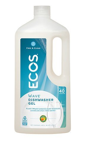 Earth Friendly Products Wave 2X Ultra High Efficiency Free & Clear Auto Dishwasher Gel Free & Clear 40.0fl oz- pack of 4