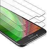 Cadorabo 3X Película Protectora para Motorola Moto E4 Plus en Transparencia ELEVADA - Paquete de 3 Vidrio Templado (Tempered) Cristal Antibalas Compatible 3D con Dureza 9H