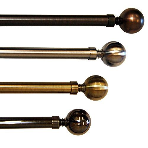 Versailles Lexington Ball Finial Rod Set in Antique Brass