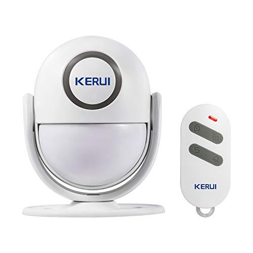 KERUI P6 Sensor Movimiento alarma con sonido inalambrico, Sistema Alarma para Casa Seguridad con Mode de Timbre Puerta/Alarma Antirrobo, Kit Alarma con Control Remoto para Hogar/Garaje/Autocaravana