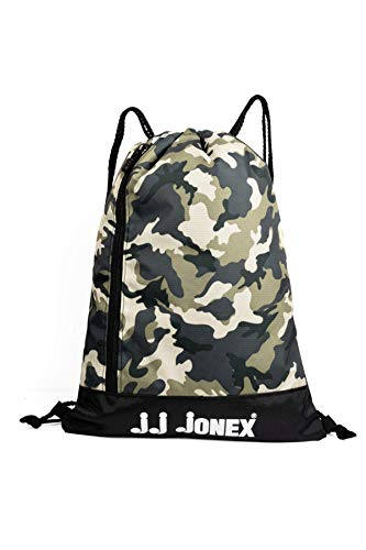 JJ Jonex Polyester Waterproof Reversible String Backpack for Running, Football, Riding, Gym Bag and Cycling (Green)