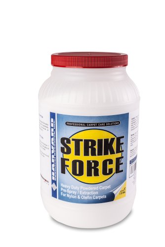 Harvard Chemical 7021 Strike Force Industrial Super Strength Carpet pH Detergent, Low Odor, 7 lbs Jar, White (Case of 4)