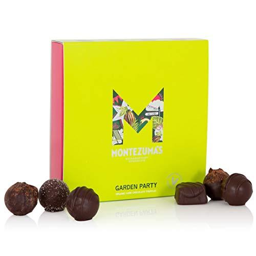 Montezuma's Garden Party, Vegan Truffle Collection Box, Small, Contains 16 Truffles, Gluten- Free, Vegan and Organic, Dark Chocolate, 220 Gram