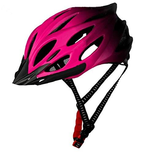 Yililay Fahrradhelm Erwachsene Leichte Fahrradhelm Fahrradhelm Mit Rücklicht Einstellbar Für Männer Frauen (rosa)