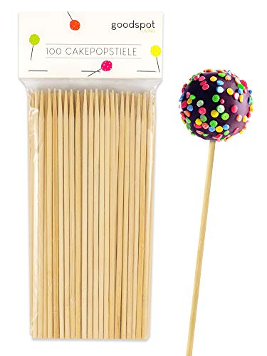 goodspot® Premium Cake Pop Stiel 100 Stück ideale Größe 17 cm für Cake Pop...