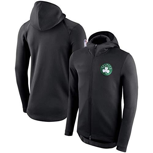 YSMART Boston Celtics Equipo con Capucha de la Cremallera Training Jersey,Chaqueta cómoda con Chaqueta de Baloncesto de Manga Larga