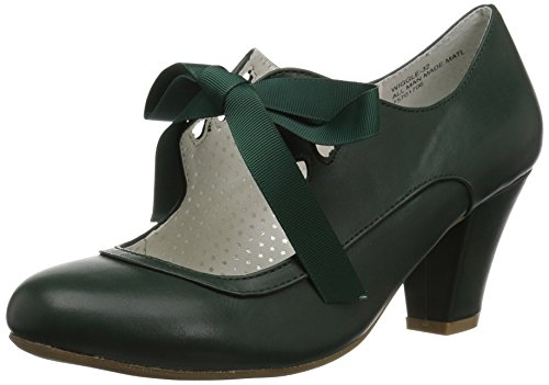 Pin Up Couture WIGGLE-32 Dark Green Faux Leather UK 8 (EU 41)