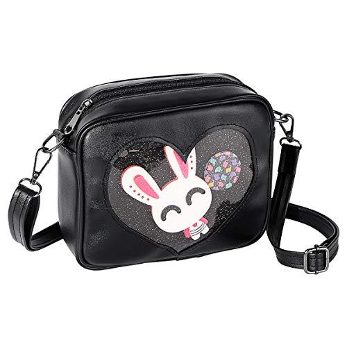 Shidan PU Leather Ita Bag Handbag Kawaii Transparent Crossbody Shoulder Bag