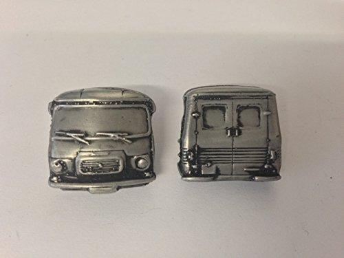 Boutons de manchette 3D Peugeot J7 Van (avant et arrière) - Effet étain - Ref177
