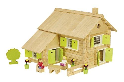 Jeujura - 8049- Jeux de Construction-Maison en Rondins - 240 Pieces