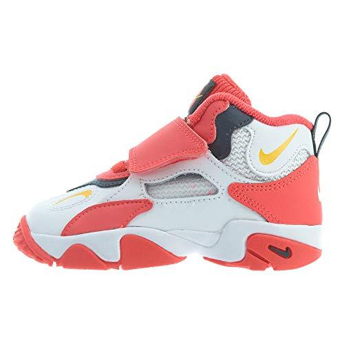 Nike Speed Turf para niños pequeños, (White/Laser Orange-Red Orbit), 43 EU