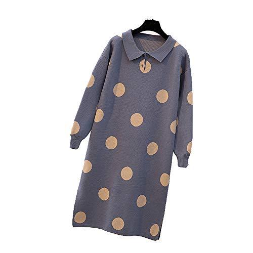 Mode partij cocktail jurk Womens Winter Sweater Jurk Polka Dots Basic Alinea Voor Meisjes Vrouwen Dagelijks Leven Winkelen Bloemenfeest jurk