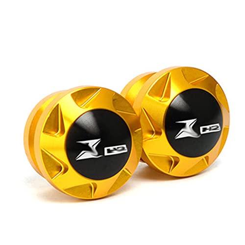JINBINB / Ajuste para Kawasaki ZH2 Z H2 ZH2 2019-2021 2020 M8 Sportarm Spool Slider Stain Twnys Accesorios de Motocicletas (Color : Glod)