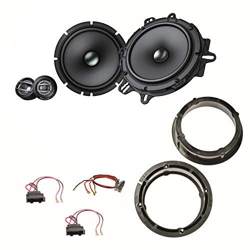 Pioneer TS-A1600C Lautsprecher System 16,5 cm vorne Einbauset für Golf 4 Bora