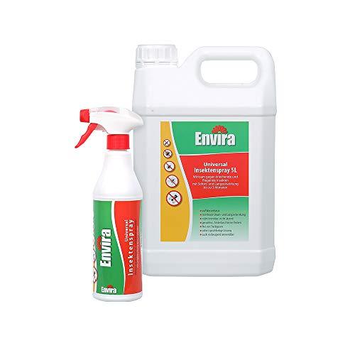 Envira Universal Insektenschutz - Hochwirksames Insekten-Spray Mit Langzeitschutz - Auf Wasserbasis - 500ml + 5Ltr