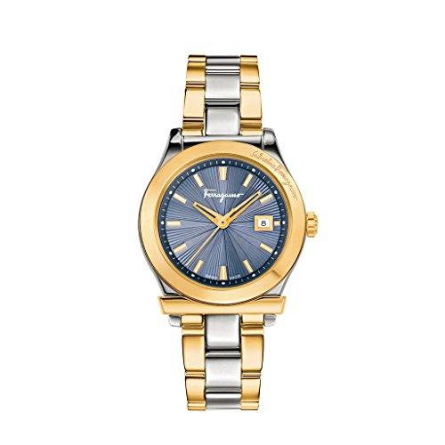 Salvatore Ferragamo Reloj Análogo clásico para Mujer de Cuarzo con Correa en Acero Inoxidable FF3250015