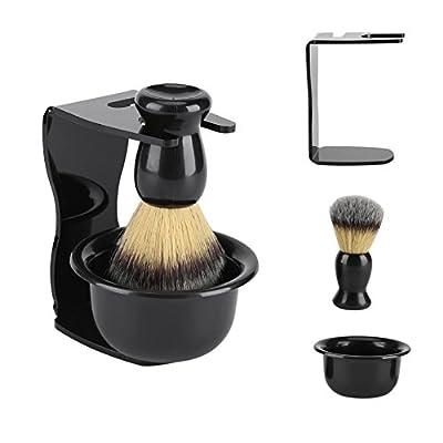 3 in 1 Professional Shaving Brush Kit Man's Shaving Set with Shaving Frame Base, Soap Bowl, Badger Hair Shaving Brush for Men Father Husband Boyfriend Gift