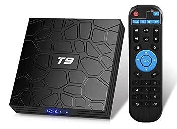 T9 Android 9.0 TV Box 4GB DDR3 RAM 32GB ROM RK3318 Bluetooth 4.0 Quad-Core Cortex-A53 64 Bits Support Dual WiFi 2.4G/5G 4K 3D Ultra HD H.265