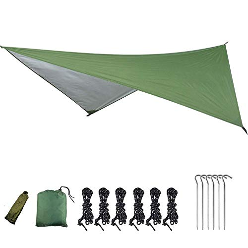 Acampar Canopy Ligera Acampar Lona Impermeable Sombra del Paraguas por un Picnic Caminatas al Aire Libre Jardín 230X210CM Verde