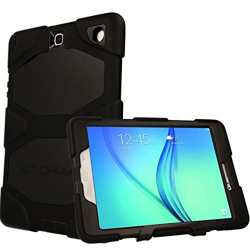 TECHGEAR G-SHOCK Case fits Samsung Galaxy Tab A 9.7 Inch (SM-T550 & P550 Series) - Tough Rugged Heavy Duty Armour Shock Proof Survival Protective Case with Stand - Kids Work School Builders Case