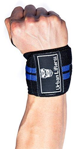 Urban Lifters Fasce per i polsi (Coppia) -Wrist Wraps (Black/Blu)