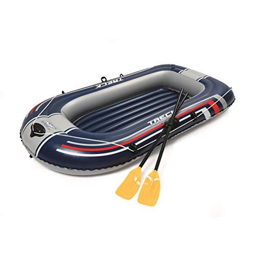 Bestway-61083000 Barca Hinchable+remos+hinchador 228x127cm, Multicolor,...