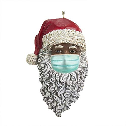 2020 Christmas Ornament Santa Wearing A Face Mask Decorate Christmas Tree