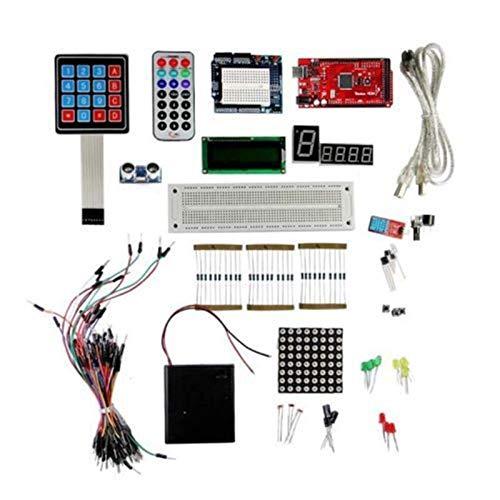 Nuevos Kits de Estrellas para arduino breadboard Mega 2560 R3 LCD1602 Buzzer LED Blight Resistor Ajustable Accesorios de impresión 3D