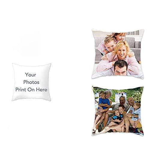 jinfu Regalos Personalizados con Foto,cojin Personalizado con fot,Personalizados con Foto,Mamá,Cojines Personalizados,Cojín San Valentín Personalizado con Foto y Texto (Different Polyester,40CMx40CM)