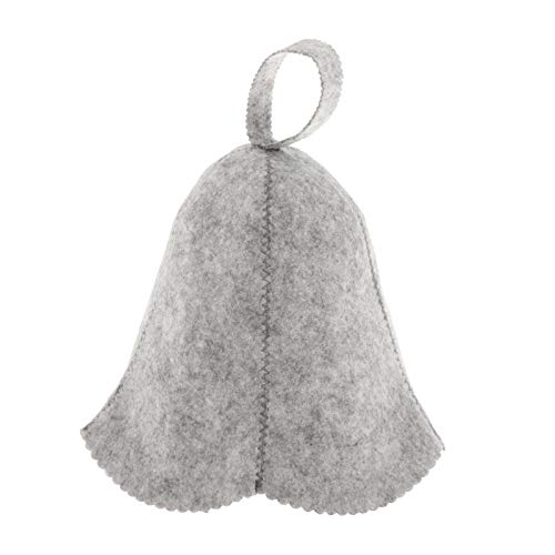 Nobranded Chapeau de Sauna en Feutre de Laine, Hat de Laine pour Homme et Femme, Casquette de Bien-être Bonnet de Sauna, Convient pour Spa - Gris