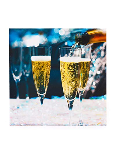 Champagne Celebrations Card - Blank Greetings Card - Perfect voor een verscheidenheid aan gelegenheden - Gefeliciteerd Card -Champagne - Wijn