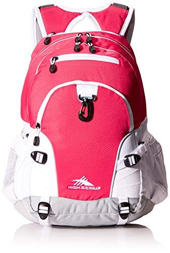 High Sierra Loop Backpack, 19 x 13.5 x 8.5-Inch, Pink Punch/White/Ash