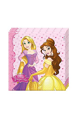 Disney 46930Prinzessin Party Geschirr Servietten Papier Vollzwirn