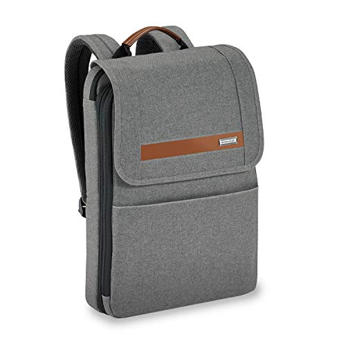 Briggs & Riley Kinzie Street-Slim Expandable Backpack, Grey, One Size