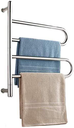 Radiador eléctrico de pared, toallero calefactor, de acero inoxidable, para baño o casa, IP56 impermeable