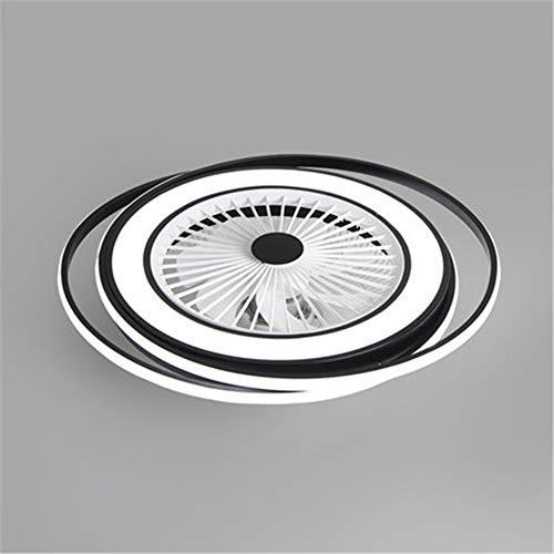 Ventilador de techo moderno y creativo LED regulable con luz con mando a distancia, ventilador de techo silencioso, lámpara para salón, habitación de los niños, oficina, ventilador de luz